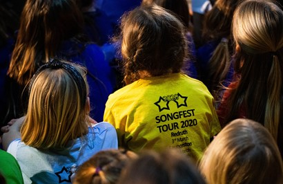 photo of young performers at Songfest 2020 in Redruth