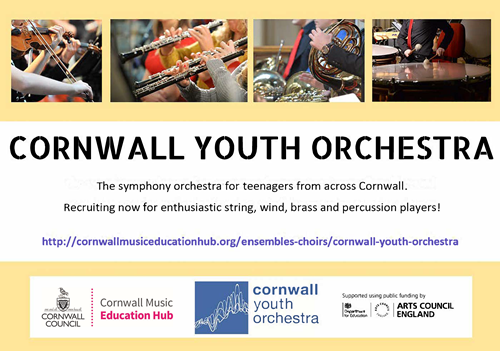 Flyer for joining the Cornwall Youth Orchestra